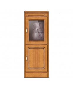 wood cabinet 2 doors cabinet, solid structure, glass door cabinet,
