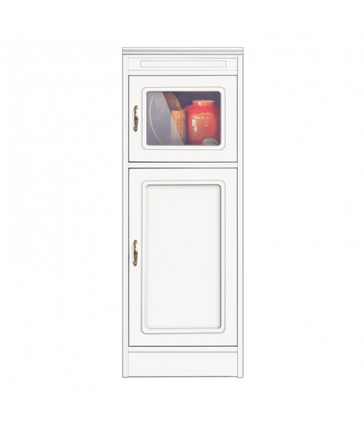 narrow sideboard, wooden cabinet, wooden sideboard, glass door cabinet, 2 door cabinet, Arteferretto furniture, Arteferretto cabinet, living room cabinet