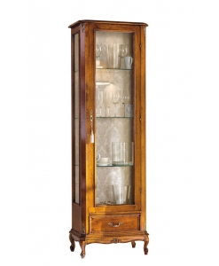 display cabinet in classic style, wooden cabinet, glass door cabinet, living room cabinet, living room display cabinet, classic style furniture