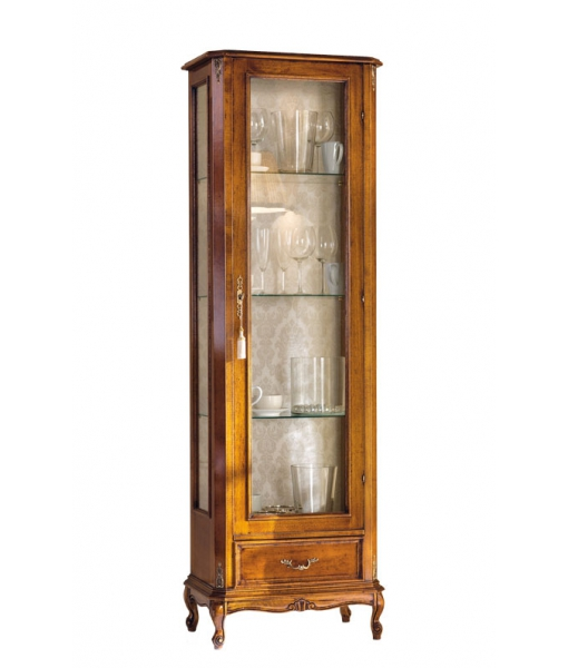 Display cabinet in classic style with 1 drawer. Sku e116-v