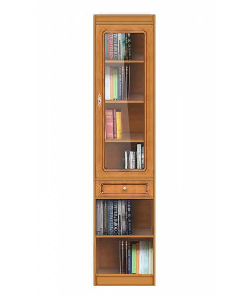 High modular bookcase, 1 glass door. Sku ec-com-m2