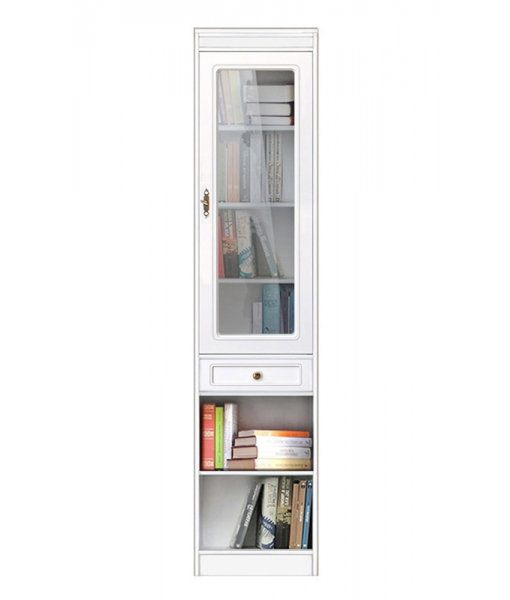 high modular bookcase, wooden bookcase, single door bookcase, space saving bookcase, Arteferretto furniture, classic furniture, classic display cabinet