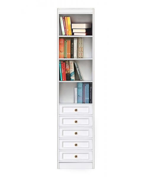 modular bookcase, living room bookcase, wooden bookcase, bookshelf with drawers, Arteferretto furniture, Arteferretto bookcase