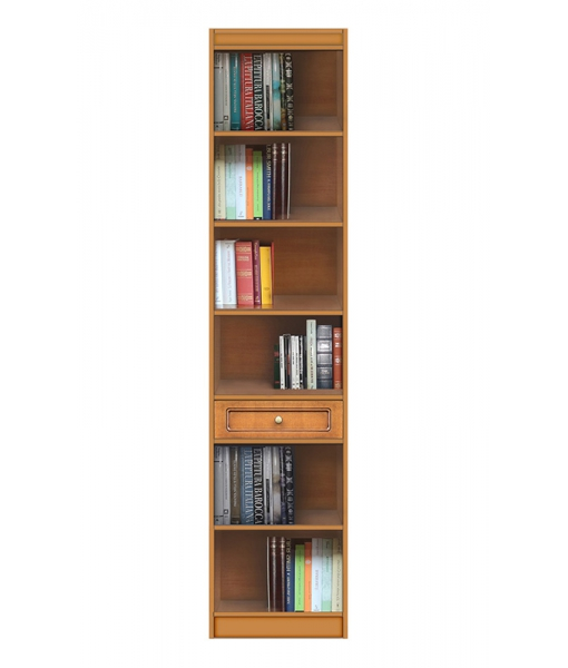 High functional bookcase in wood 1 drawer. Sku ec-com-m1