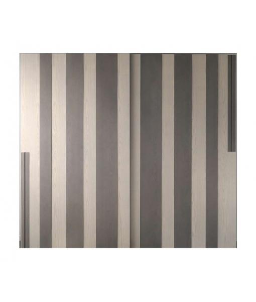 Modern design wardrobe in ash wood. Sku L3031-FS