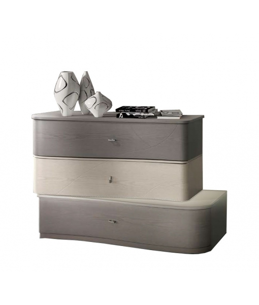 Original modern design dresser 3 drawers, ash wood. Sku  L32-FS