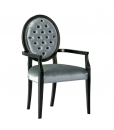 upholstered headchair, wooden chair, solid beech wood chair, chair with armrests, classic wood furniture, classic dining chair