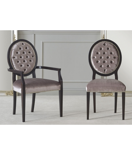 upholstered chairs, buttoned back chairs, wooden chairs, solid beech wood, classic dining chairs