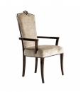 elegant armchair, wooden armchair, traditional armchair , dining room chair with armrests, upholstered chair