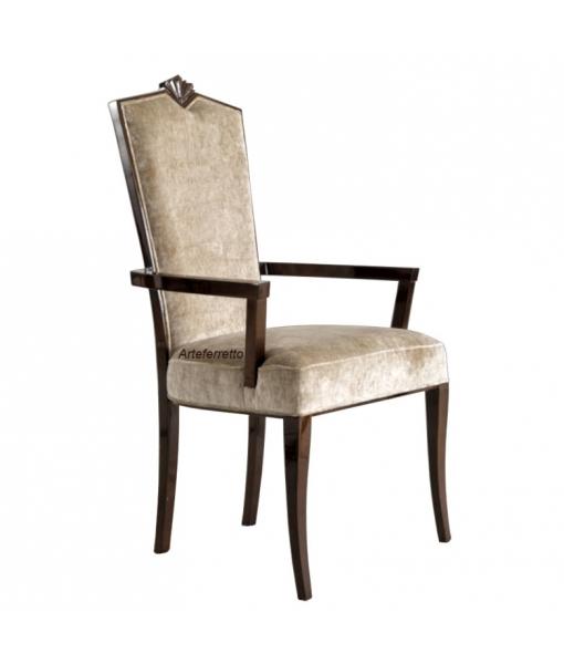 Elegant armchair in wood. Sku L56-C