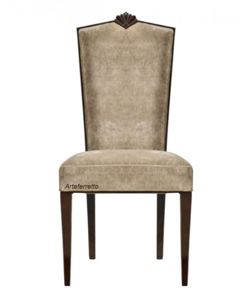 Elegant chair in solid wood high quality upholstery. Sku L56