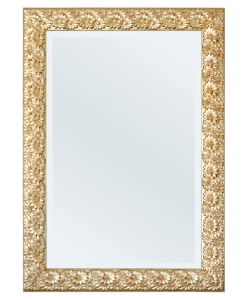 rectangular mirror, wooden frame, rectangular frame, bevelled mirror, flower frame, hallway mirror