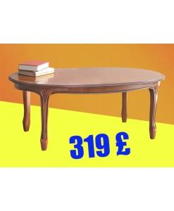 oval shape coffee table, wooden coffee table, oval tea table, living room coffee table