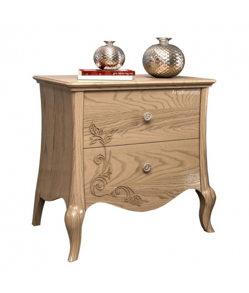 Floral decor bedside table 2 drawers. Sku MZ-01