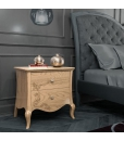 floral decor bedside table, wooden nightstand, wooden furniture, shaped bedside table