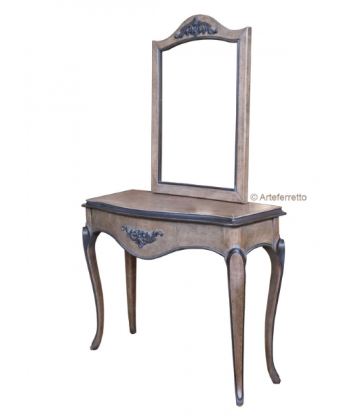 Solid cherry wood console table + mirror. Sku ml-101