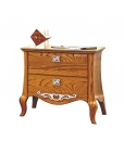 2 drawer bedside table, wooden bedside table, bedroom furniture, classic nightstand