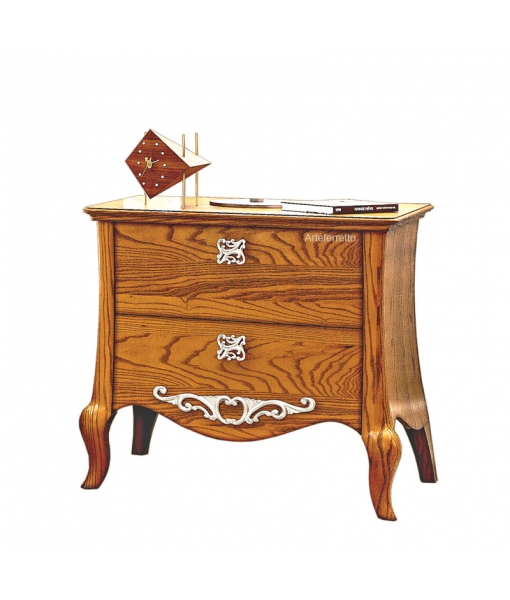 2 drawer bedside table in wood. Sku mz-01t
