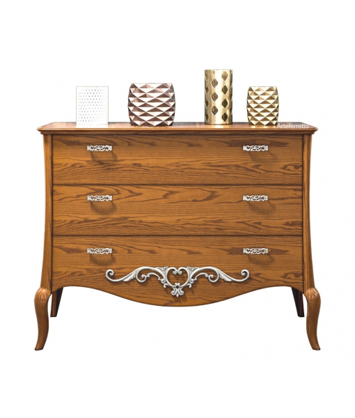 3 Drawer dresser in wood. Sku mz-03t