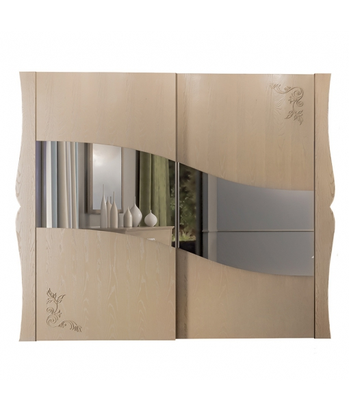 Mirrored sliding wardrobe. Sku mz-04
