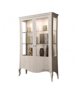 2 door display cabinet, wooden cabinet, display cabinet in wood, original design display cabinet, living room cabinet, Italian design cabinet