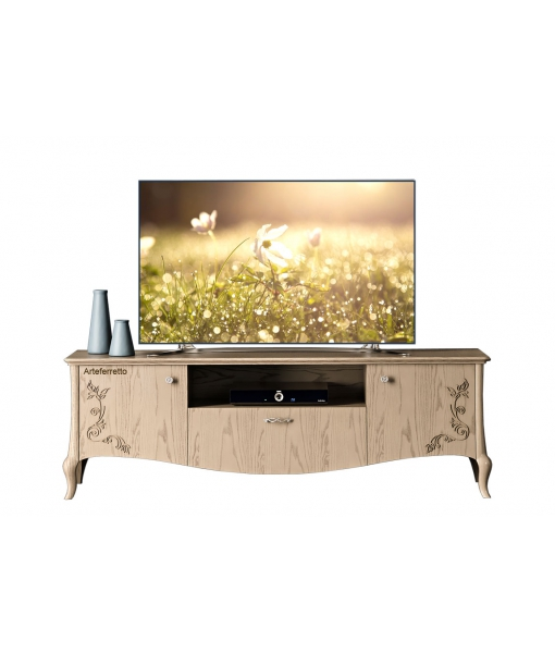 Decorated tv cabinet in wood. Sku mz-08