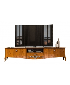 low tv unit in wood, wooden tv unit, tv cabinet, shaped tv cabinet, wooden tv lowboard, living room furniture