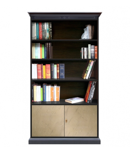Two tone bookcase in wood. Sku 201-bro