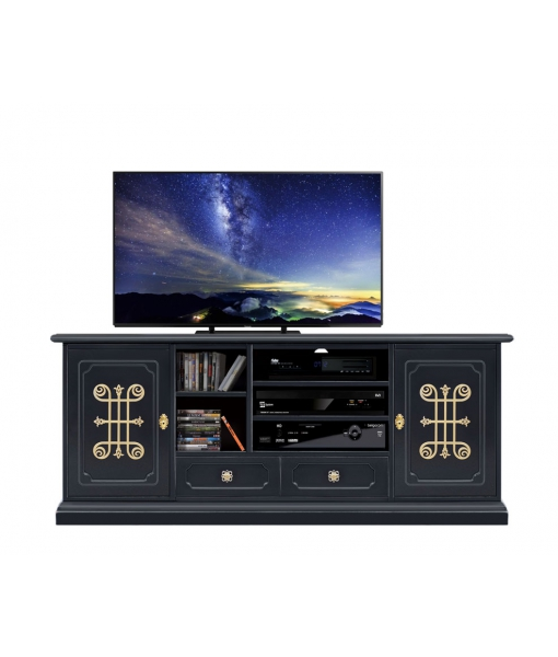 Entertainment tv unit You collection Black Gold. Sku 4070-n-you