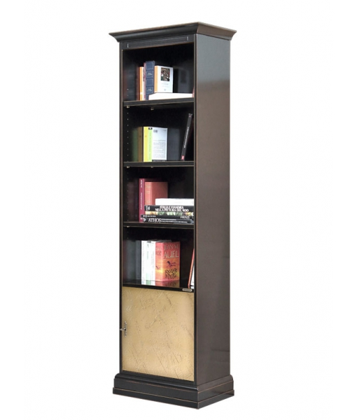 Column bookcase in wood. Sku 4089-bro