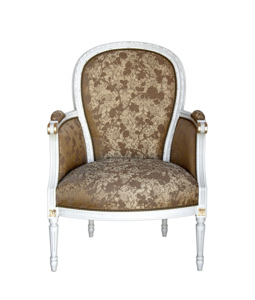 Living room armchair with turned fluted legs. Sku g-526-bi