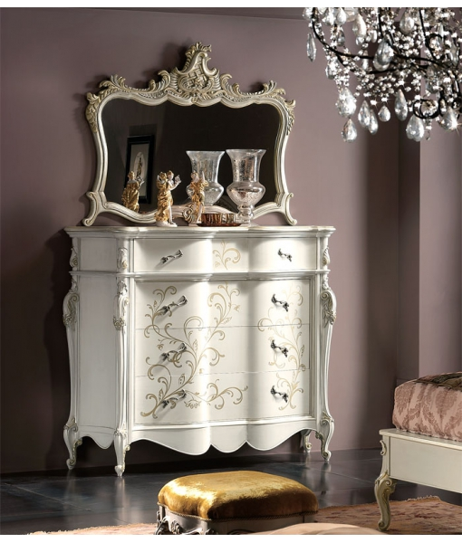 decorated dresser, chest of drawers, wooden dresser, classic style dresser, high quality dresser, chest of drawers for bedroom