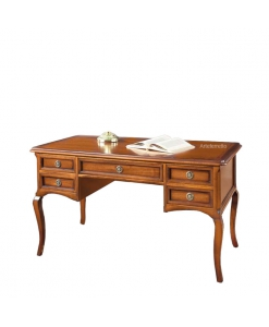 classic desk, wooden writing desk, solid wood desk, office writing desk, shaped legs desk, classic style furniture