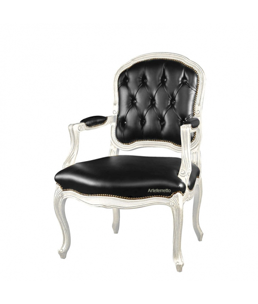 Classic armchair buttoned backrest. Sku sty-221