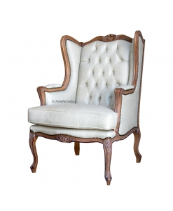classic armchair, classic Bergère armchair, wooden armchair, wood armchair