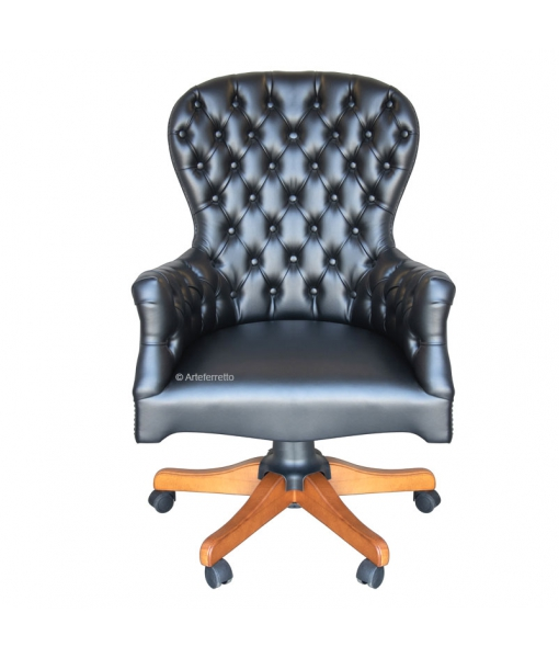 Executive armchair with buttoned backrest. Sku. sty-a75