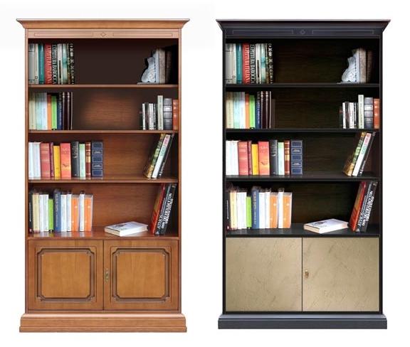 Bookcase classic vs contemporary style