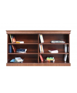 large open shleving bookcase, wooden bookcase, open shelving bookcase, office bookcase, Arteferretto bookcase, Arteferretto furniture