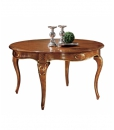 shaped dining table, wooden dining table, rounded table, round dining table, Italian design table, classic style table