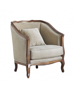 reading armchair, wooden structure armchair, living room armchair,