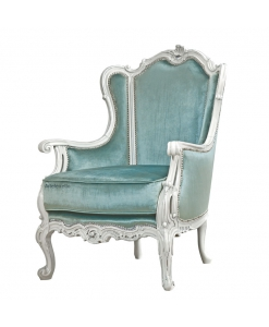 reading armchair, classic style armchair, upholstered armchair, padded armchair, living room armchair, Italian design armchair, Italian furniture