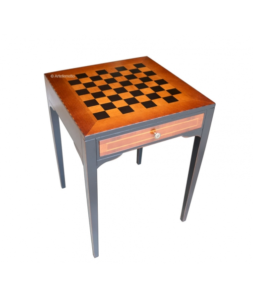 two tone chess board table, living room table, side table, chess table, chess board, Italian design table