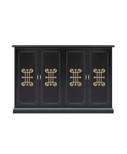 wide shoe cabinet, wooden shoe cabinet, large shoe rack, wooden shoe unit, shoe cupboard in wood, handcrafted shoe unit, black shoe cabinet, Arteferretto furniture, entryway furniture, entryway cabinet,