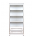 Open shelving bookcase with drawers, wooden bookcase, Tall bookcase, living room bookcase, white bookcase, wooden bookshelf, office bookcase, living room furniture, classic style bookcase, Arteferretto furniture, Arteferretto bookcase,