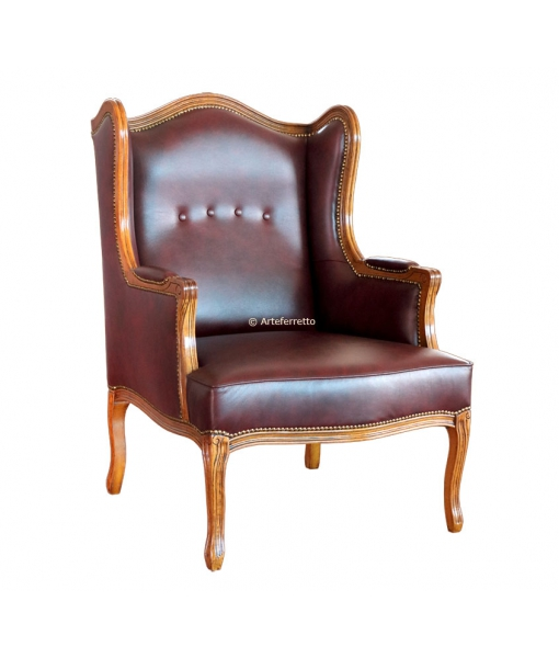 Upholstered wing armchair. Sku gm-111
