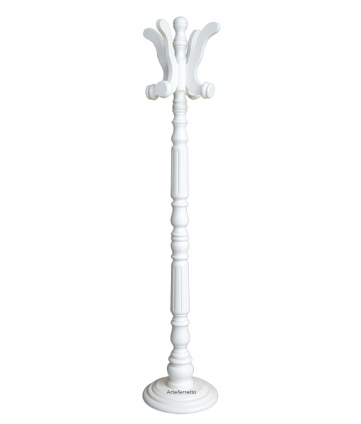Entryway coat stand in lacquered wood. Sku p6001-bi