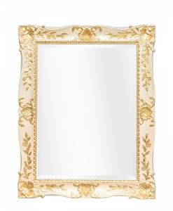 lacquered mirror, rectangular mirror, rectangular fram, gold leaf mirror, classic style mirror