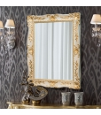 lacquered mirror, rectangular mirror, rectangular fram, gold leaf mirror, classic style mirror