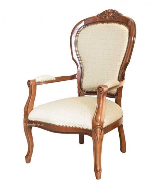 Carved armchair in wood. Sku fl-b02