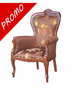 upholstered armchair, living room armchair, wooden armchair, classic armchair, classic style armchair